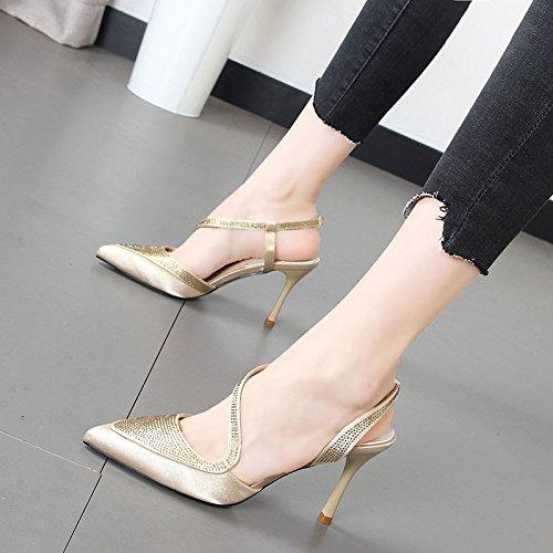 Xue Schuhe charmanten Mädchen Tide der mit weiblichen Sandalen Qiqi wild Hochhackige fein des Spitze 4S6rHx4