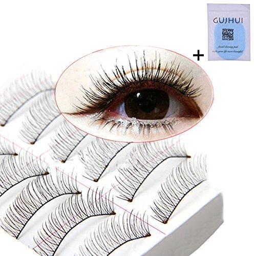 10 Paar falsche künstliche Wimpern Eyelashes,Eyelasches Wimpernverlängerung Make-up