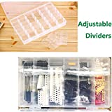 2 Pack 36 Grids Plastic Organizer with Adjustable