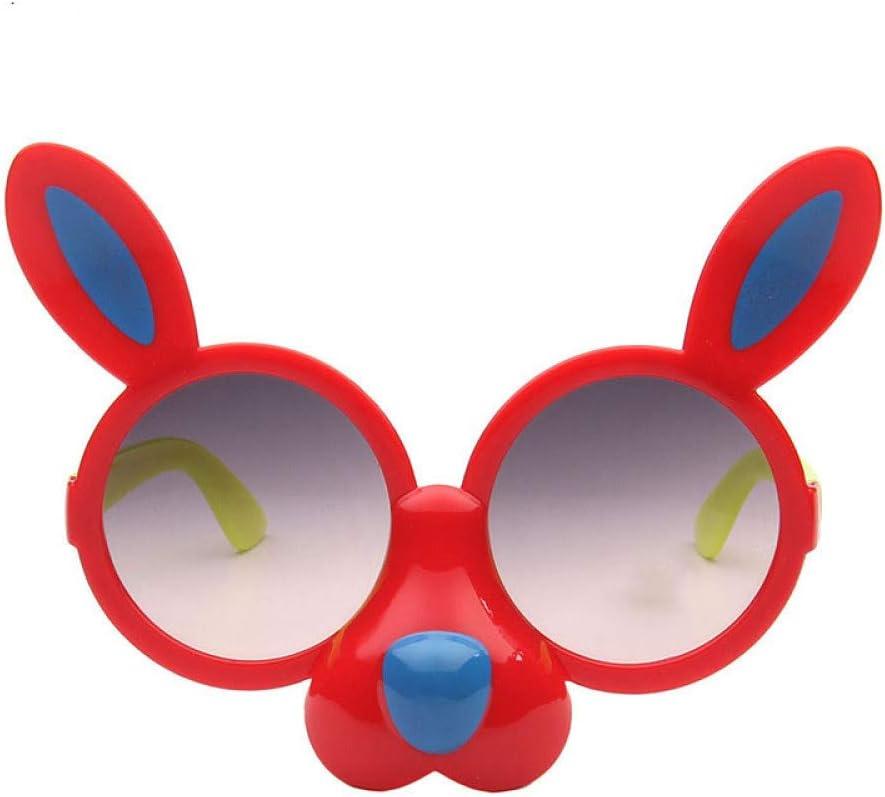 QPRER Gafas De Sol,Rojo Encantador De Dibujos Animados ...