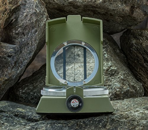 SE CC4580 Military Lensatic and Prismatic Sighting Survival Emergency Compass with Pouch by SE (Image #5)