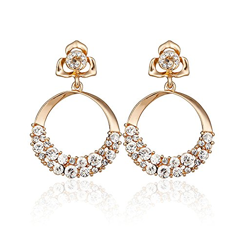 Shining Diva Fashion Stylish Fancy Party Wear Golden Gold Plated Earrings for Women