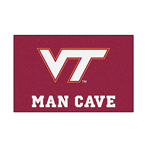 Virginia Tech University Man Cave Area Rug (Tailgater)