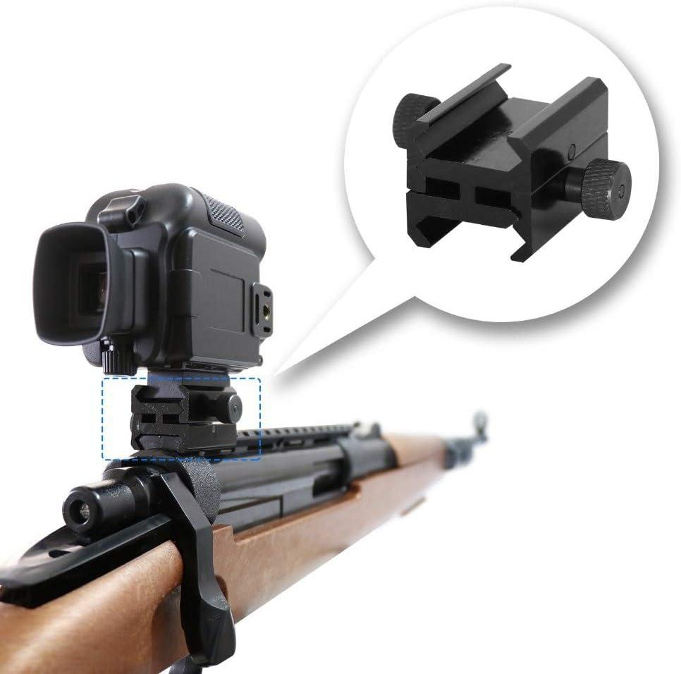 XBF-HUNT, Rifle bípode Ámbito Montajes Adaptador for los raíles o la cámara de Caza (con los raíles) de 2,5 cm de Alto Perfil