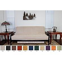 Octorose ® Full Size Bonded Classic Soft Micro Suede Futon Mattress Sofa Bed Cover (Khaki)