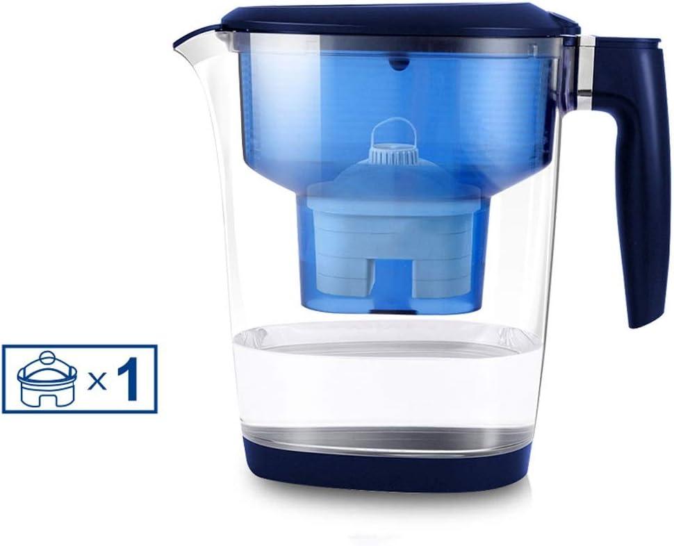 クラシックスタイルの水フィルター、3.5L水フィルター水差し、150Lの総水のろ過、石灰かすと塩素の削減、LEDタイミング表示、青