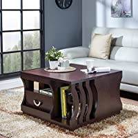 247SHOPATHOME Fgi-16907C5 Coffee-Tables, Espresso