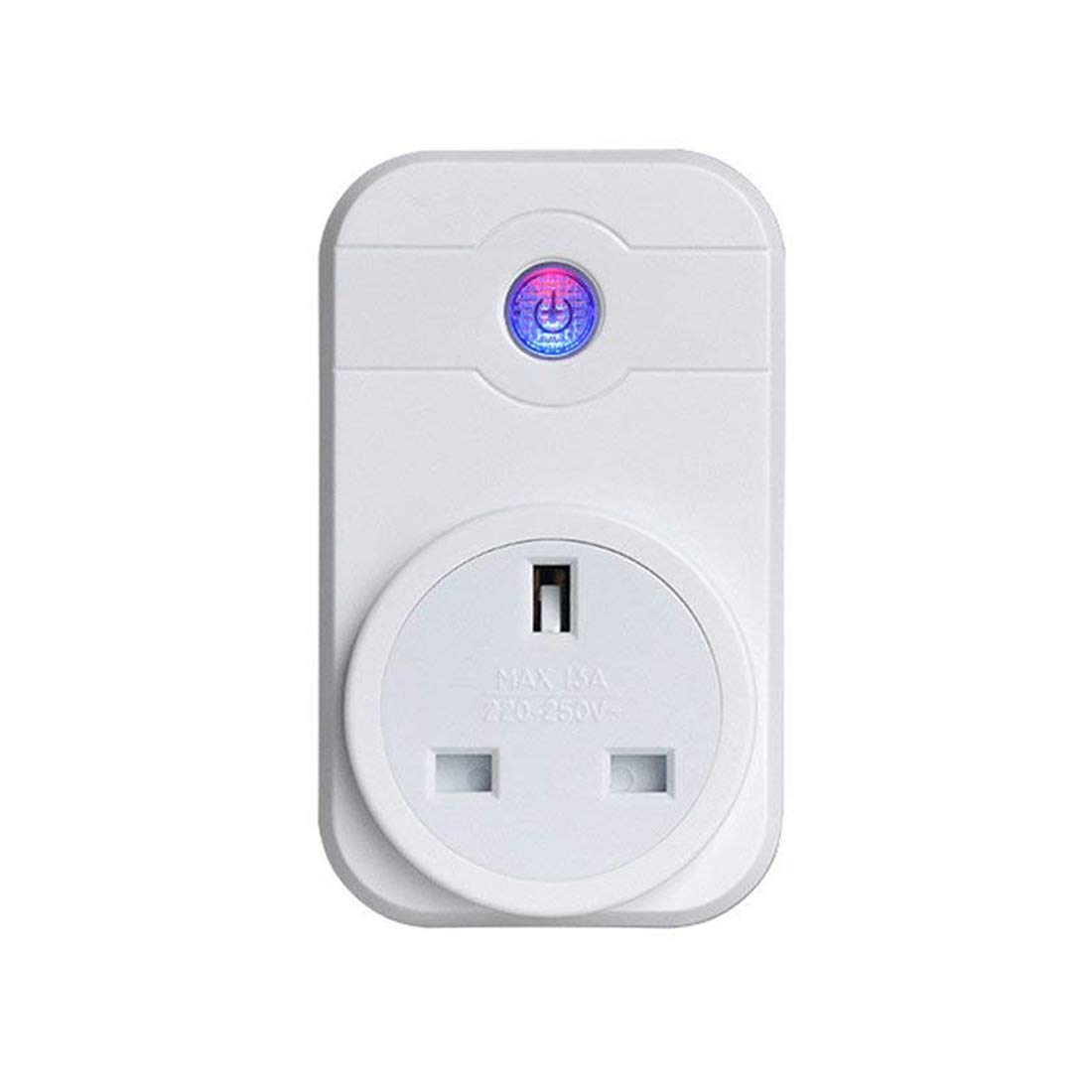 WiFi Smart Plug, LIUJIE Wireless Smart Outlet Remote Control Wi-Fi Plug Timer Switch Socket Work with Alexa and Google Assistant No Hub Required (One Pack)