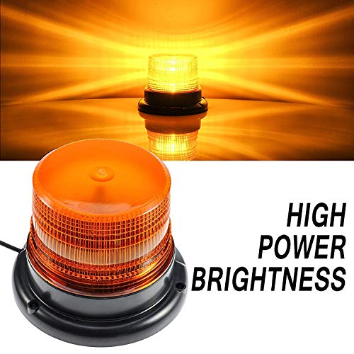 - LED Strobe Light, Dinfu Amber Warning Lights Super Bright,Emergency Warning Flash Beacon Light with 12V Cigarette Lighter Plug with Magnetic Base for Truck Vehicle School Bus