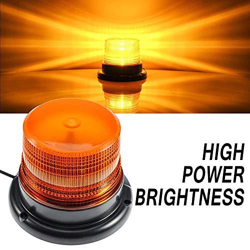 LED Strobe Light, Dinfu Amber Warning Lights Super Bright,Emergency Warning Flash Beacon Light with 12V Cigarette Lighter Plug with Magnetic Base for Truck Vehicle School Bus