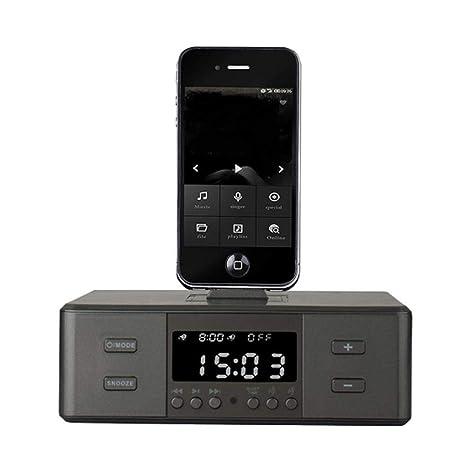 Radio Reloj Despertador, Altavoz inalámbrico Bluetooth, Reloj Despertador Digital, Cargador USB para Dormitorio