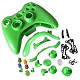 Xbox 360 Controller Shell - Replacement Buttons Thumbsticks Custom Cover Case Kit for Xbox 360 Wireless Controller - Green