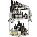 3-Layer Seasoning Rack Kitchen Counter Storage Rack for Condiment Storage Corner Racks