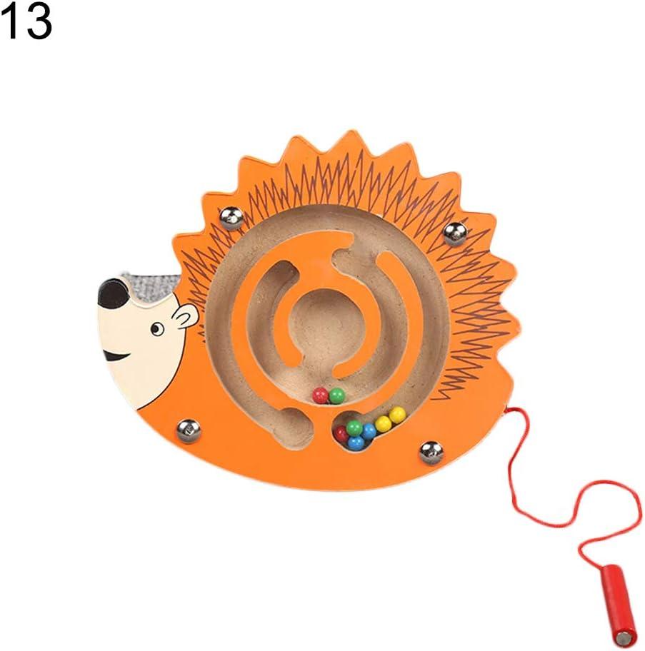 MoMo Honey Juego De Pelota De Laberinto 3D, Mini Forma De Animal con Cuentas Magnéticas Roll-on Labyrinth Puzzle Niños Juguete Educativo De Coordinación Mano-Ojo Erizo: Amazon.es: Juguetes y juegos