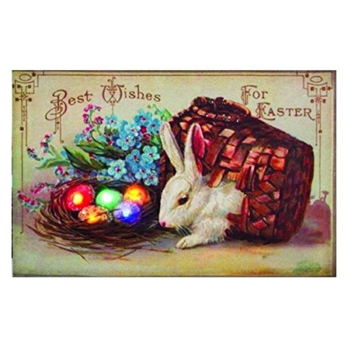 Decorative Spring Easter Wishes Victorian Vintage Inspired Retro