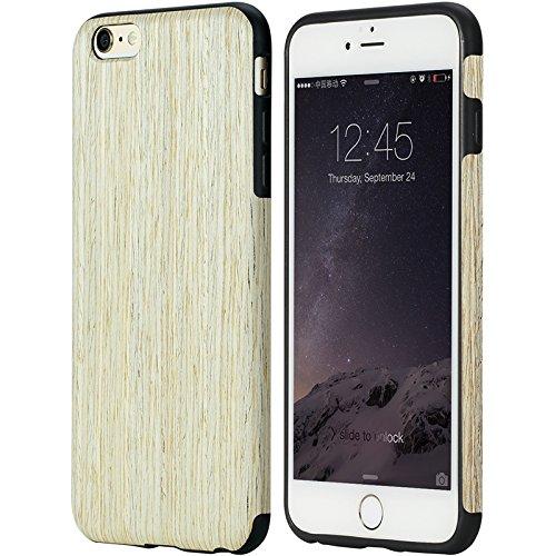Rock Origin Handyschutzhülle Echtholz für iPhone 6/6s aus echtem Holz Holzhülle Tasche Case Etui Nordic Walnut