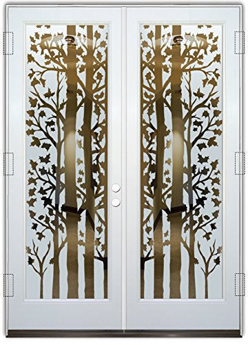 Beveled Glass Front Doors - Glass Front Entry Door Sans Soucie Art Glass Forest Trees
