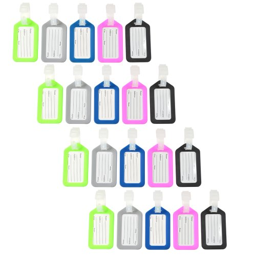 kloud-city-20-pcs-assorted-colors-4-fluorescent-green4-gray4-blue4-pink-and-4-black-plastic-travel-a
