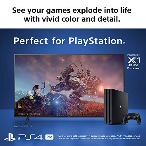 """Sony XBR-49X800H 49"""" 4K Ultra High Definition HDR LED Android Smart TV (2020)"""