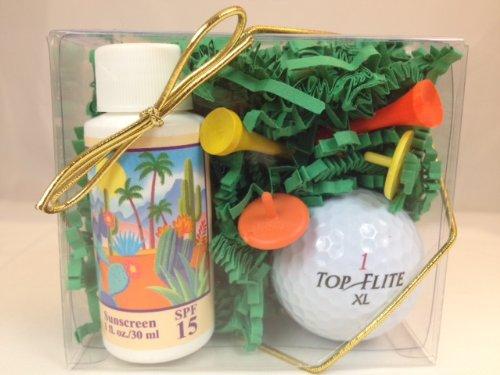 Arizona Sun Golf Set - Includes Sun Screen SPF 15 - Sun Protection - Golf Tees - Ball Markers - Golf Ball - Perfect Gift Idea For a Golfer (Golf Ball brand subject to change) ()