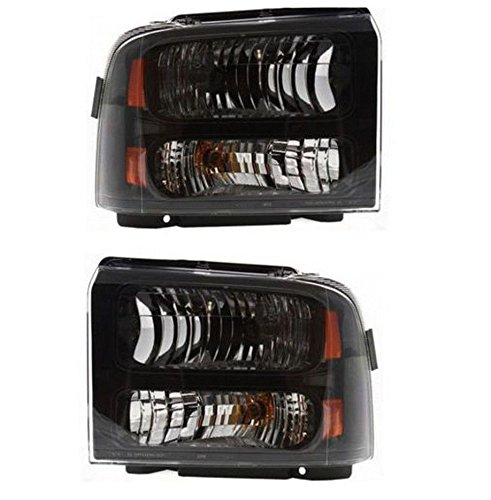 Left Right Pair (2) Headlights for a 05-07 Ford F250/350 Harley Davidson Edition