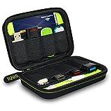 Tizum 8 x USB Flash Drives Carrying Case, Premium Quality, Hard EVA for Flash/key Drives (Black)