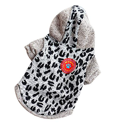 Small Dog Clothes for Boy Girl Winter Pet Puppy Warm Knitting Fleece Sweater Gray