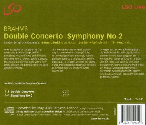 Brahms: Symphony No. 2 / Double Concerto