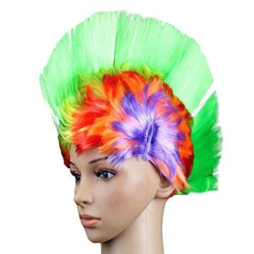 Creazy® Hallowmas Masquerade Punk Mohawk Mohican hairstyle Cockscomb Hair Wig (Mens Blonde Hairstyles)