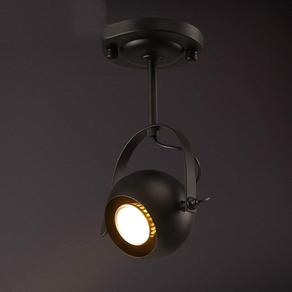 YANG Ceiling Light-Led Loft Iron Long Pole Track Retro American Industrial Creative Personality Clothing Store Living Room Energy Saving,12cm
