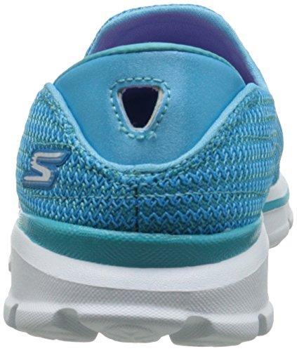 Walk Baskets Femme Go Skechers Turquoise Basses 3 n8qwf156x4