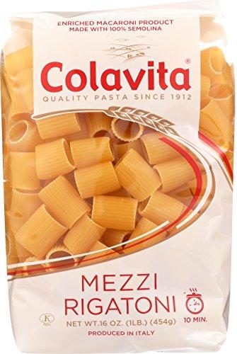 Colavita Pasta, Mezzi Rigatoni, 16 Ounce (Pack of ()