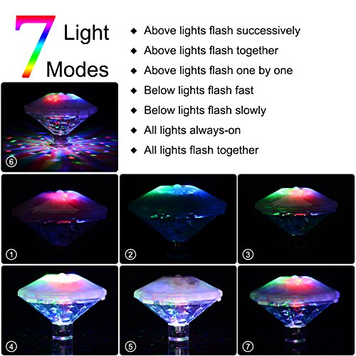 Swimming-Pool-Lights-Floating-Underwater-LED-Pond-Lights-for-Hot-Tub-Baby-Bathtub-Fountain-Disco-Pool-Party-or-Pond-Decorations-7-Modes-Waterproof-Battery-Operated