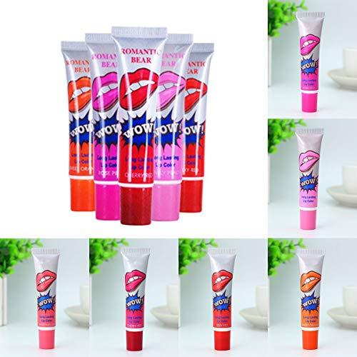 Magic Peel Off Mask Lip Gloss, Waterproof Lipstick Makeup (Color : Rose Pink)