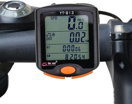 Cuentakilómetros para bicicleta de Zhangji, inalámbrico, sin cable ...