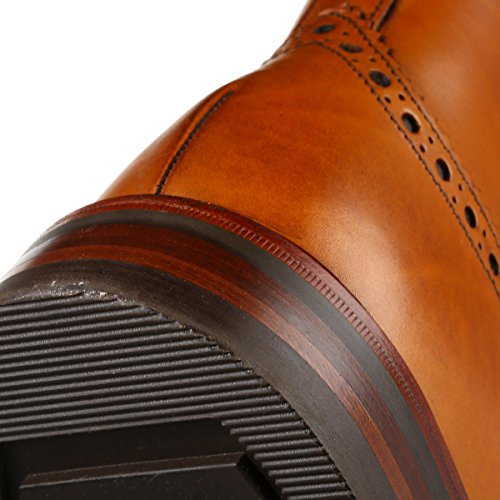 Loake Men's Bedale Brogue Boots - Tan - 8