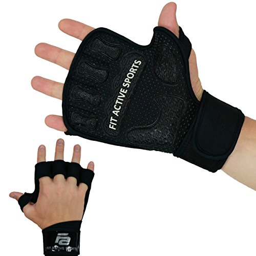 Weight-Lifting-Gloves-with-Wrist-Wraps-Extra-Grip-Padding-for-Lifting-Gym-Workout-Cross-Training-Weightlifting-WODs-Fitness-Suits-Men-Women-No-Calluses-Fit-Active-Sports