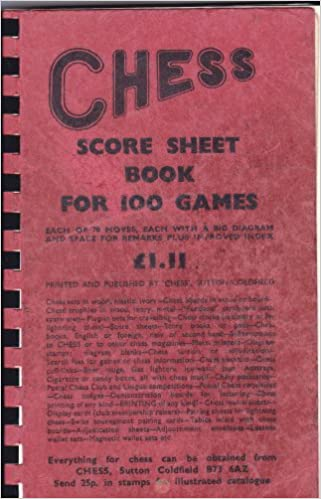 Chess Score Sheet Book For  Games AmazonCoUk Books