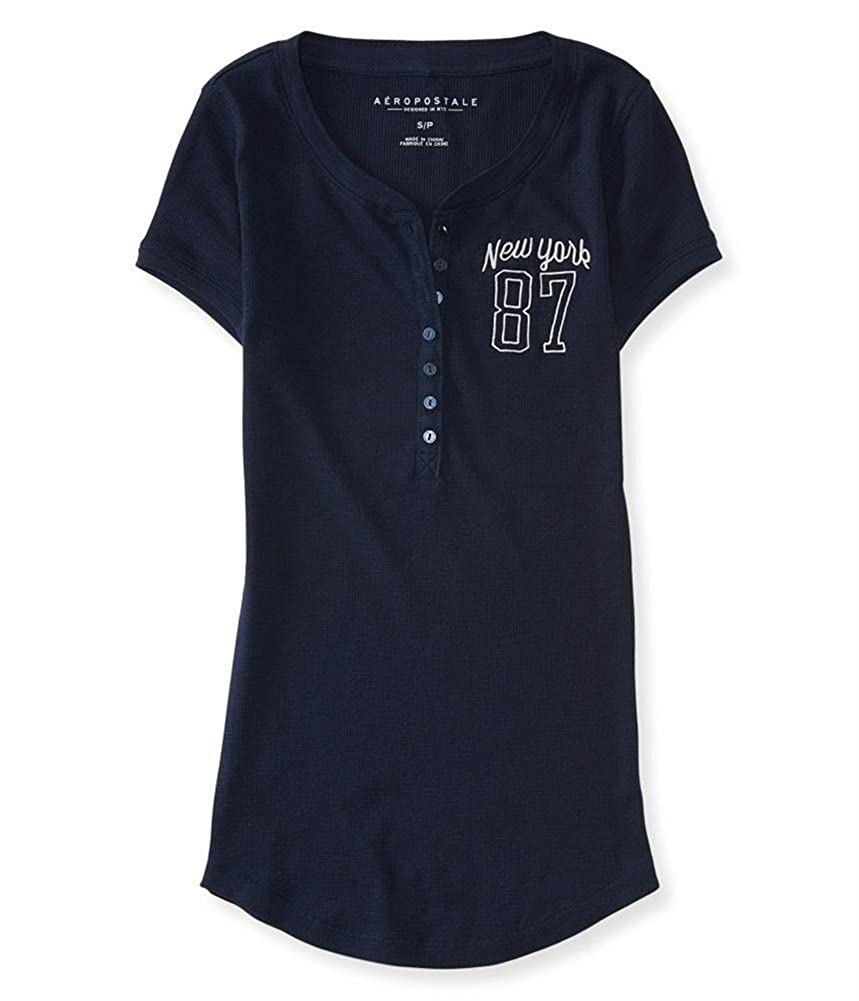 AEROPOSTALE Womens New York 87 Henley Shirt