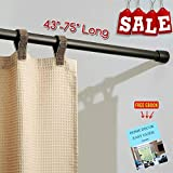 RV Expandable Shower Curtain Rod 43''-75'' Long Twist to Extend Strong Durable Non Slip Foots Perfect for RV and Home, Modern Tools and Accessories (Bronze) & Free Ebook by Stock4All