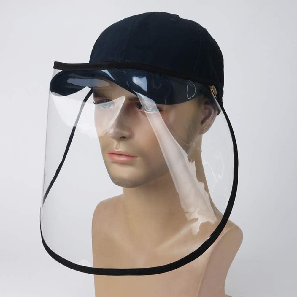 FEOYA Unisex Sonnenhut Sommer Kappe mit abnehmbar Visier Gesichtsschutz Winddicht Staubdicht UV-Schutzkappe Multifunktionale Baseballm/ütze Farbe W/ählbar