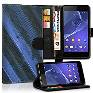 Wallet Wicostar–Funda Case Funda Carcasa diseño Funda para Sony Xperia M4Aqua–Diseño Flip mvd39
