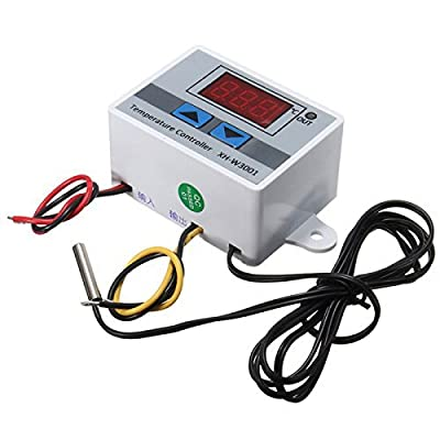 220V Digital LED Temperature Controller 10A Thermostat Control Switch w/Probe