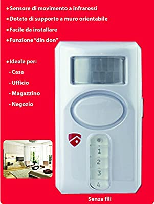 Alarma con detector de movimiento y sirena integrada: Amazon.es ...