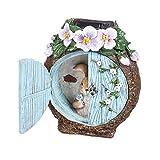 Miniature Dollhouse FAIRY GARDEN - Light-up Bunny At The Windows - Accessories