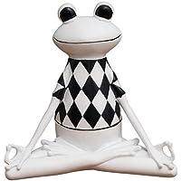 hacxiaoming Statua Creativo Artigianato Resina Statua Decorazione Regalo Ornamenti in Stile Moderno E Creativo Elementi Decorativi Bianco Rana Yoga