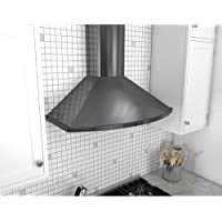 Zephyr ZSA-M90D 685 CFM 36 Inch Wide Wall Mounted Range Hood from the Savona Ser, Black Stainless Steel