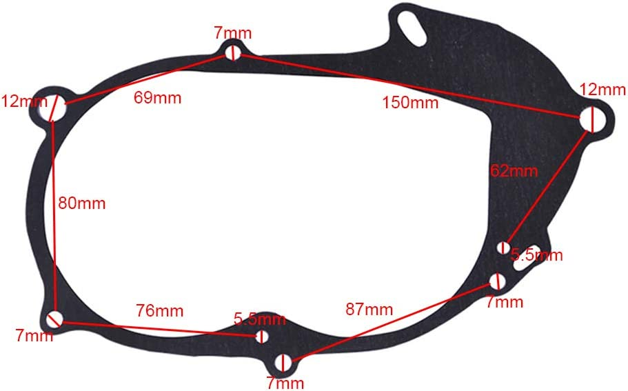 FLYPIG New Clutch Crankcase Cover Gasket for Yamaha PW50 PW 50 Y-Zinger Motor Dirt Bike Scooter Motorcycle