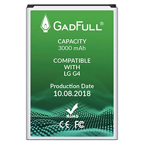GadFull Battery for LG G4 | Production Date 2018 | Corresponds to The Original BL-51YF | Smartphone Model LG G4 | G4 Dual Sim | G4 Stylus | H815 | H818P | H635 | Perfect as Replacement Battery