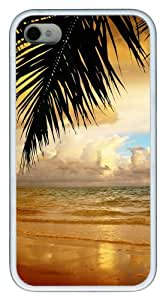 iphone 4 silicone case Landscapes sea 5 pc White for Apple iPhone 4/4S